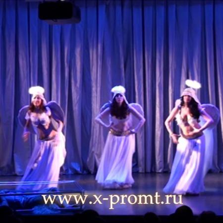 """Танец живота с сагатами. Школа танцев """"Экспромт""""."""