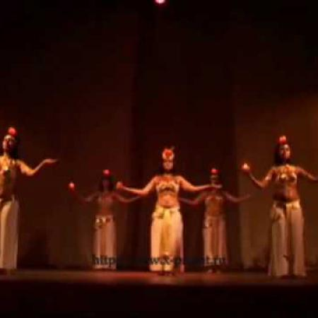 Bellydance Pharaonic with candles. Фараоник со свечами, танец живота.
