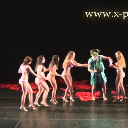 Танец Вакха (Диониса). Вакханалия. Фрагмент из танцевального спектакля.