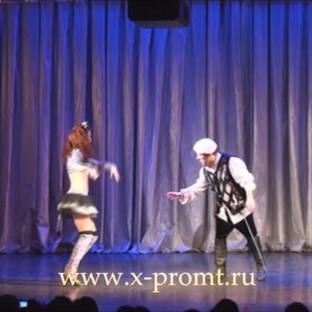 """Танец """"Лошадь Д'Артаньяна"""". Отрывок из спектакля.  Школа танцев """"Экспромт"""" Санкт-Петербург."""
