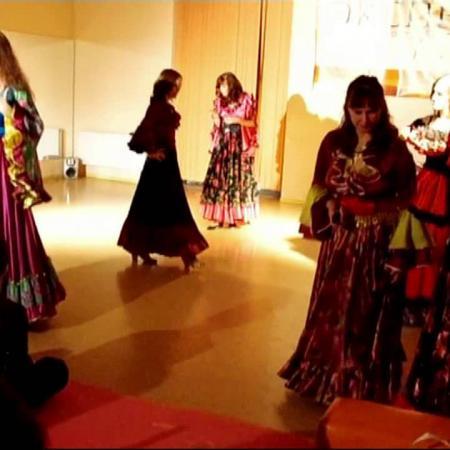 """Вечерника в цыганском стиле в честь дня бухгалтера в школе танцев """"Экспромт""""."""